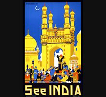 See India Vintage Travel Poster Restored Unisex T-Shirt
