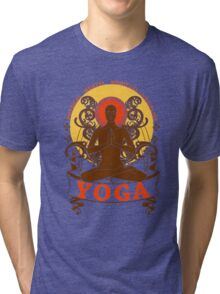 Yoga : Physical Mental Spiritual Discipline  Tri-blend T-Shirt
