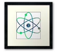 Science ATOM symbol Framed Print