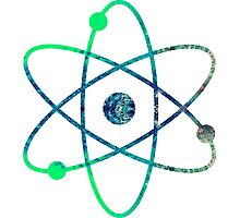 Science ATOM symbol Photographic Print