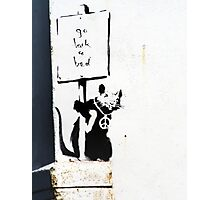 Go back to bed protester  Photographic Print