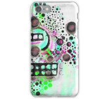 Mixed Media Neon Bubbles iPhone Case/Skin