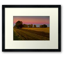 Golden hour on the prairies Framed Print