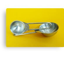 Measuring Spoons Canvas Print