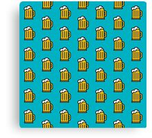 Beer Pattern - Drinks Series Canvas Print