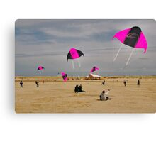Beach activities  Canvas Print
