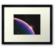 Solar Flares on Planet Soap Bubble Framed Print