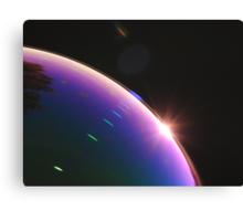 Solar Flares on Planet Soap Bubble Canvas Print