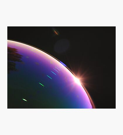 Solar Flares on Planet Soap Bubble Photographic Print