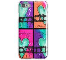 4 Mixed Media Hearts iPhone Case/Skin