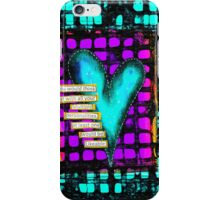 Teal Neon Heart iPhone Case/Skin
