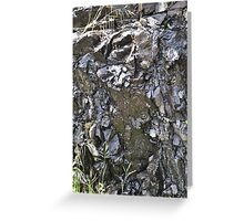 Water over Rocky Edge Greeting Card