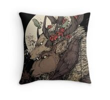 The Elk King Throw Pillow