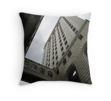An Old Bank Building in Cincinnati Throw Pillow