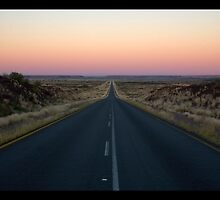 Sunset N10 Upington to Namibia by James  Luccarda