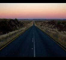 Sunset N10 Upington to Namibia 2 by James  Luccarda