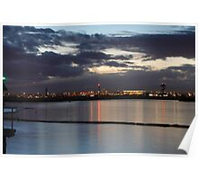 Sydney Airport Dusk Takeoff Poster