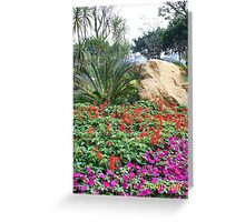 Flower Park in Asia Greeting Card