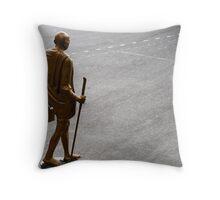 Mahatma Gandhi - Spiritual &Political Leader and Humanitarian Throw Pillow