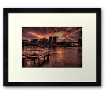 Natures Photoshop - McMahons Point, Sydney Harbour - The HDR Experience Framed Print