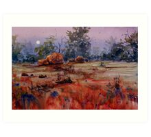 Outback Moonrise Art Print