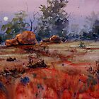 Outback Moonrise by Joe Cartwright