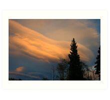 Sunset over Estes Park, CO Art Print