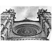 Palma Cathedral rose window. Poster