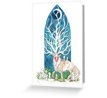 The Forest God Greeting Card