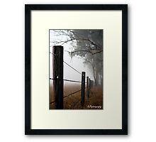 Misty Wire Framed Print