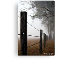 Misty Wire Canvas Print