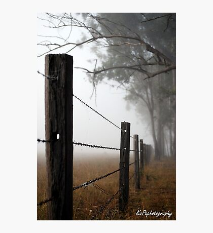 Misty Wire Photographic Print