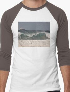 Waves & Ships, Werrong Beach, Australia 2014 Men's Baseball ¾ T-Shirt