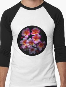 Plumeria Blossoms Men's Baseball ¾ T-Shirt
