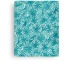 Circle of Leafs - Turquoise Canvas Print