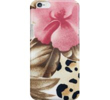 Abstract girly pink brown leopard print floral  iPhone Case/Skin