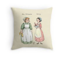 Mrs.Patmore-Daisy Throw Pillow