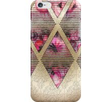 Gold and Pink Diamond Pattern iPhone Case/Skin