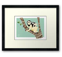 Sloth&baby  Framed Print