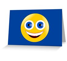 Yellow Smiley Greeting Card