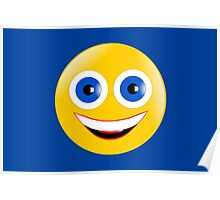 Yellow Smiley Poster