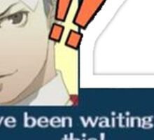 I've been waiting for this! - Persona 3 - Akihiko Sticker