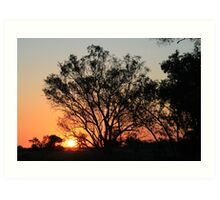 Typical Spring sunset Art Print