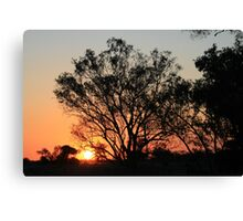 Typical Spring sunset Canvas Print