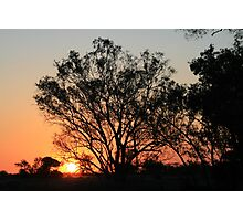 Typical Spring sunset Photographic Print