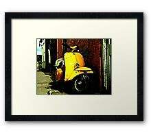 Vespa On Acid Framed Print