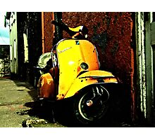 Vespa On Acid Photographic Print