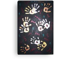 Blood on our hands/Eight Deadly Sins Canvas Print