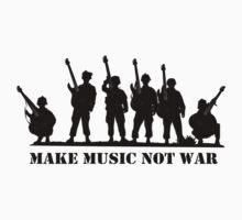 Make Music Not War 2 One Piece - Short Sleeve