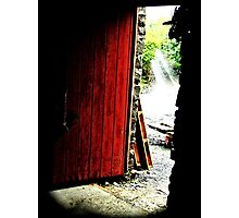 Red Door Photographic Print